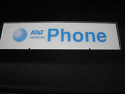 New! At&t Payphone Enclosure Signage, 2 Piece Set Included, Front And Rear