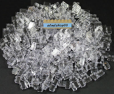 LEGO - 1x2 Bricks Translucent Clear - Wall Window 3004 Trans Blocks Bulk Lot