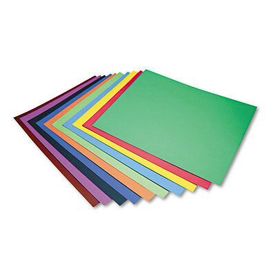 """""""Pacon Four-Ply Railroad Board In Ten Assorted Colors, 28 X 22, 100/carton"""""""