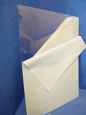 Dolls House DIY Clear plastic sheet  .5mm  easy to cut  sheet for Glazing