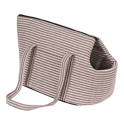Me & My Striped Pet Carrier Travel Bag Dog/puppy/cat/kitten Crate/handbag/tote