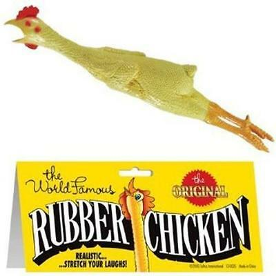 THE WORLD FAMOUS ORIGINAL RUBBER CHICKEN funny chicken pranks classic turkey toy