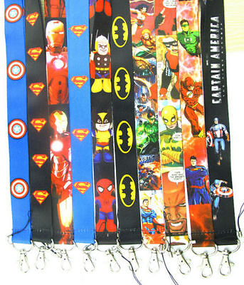 Lot Mixed Avengers mobile Phone lanyard Keychain straps charms Party Gifts A046