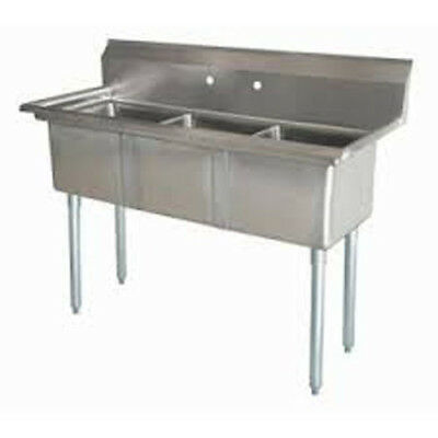 Three Compartment NSF Comercial Sink Size Bowl 18 x 18