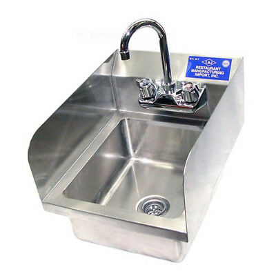 Economy Hand Sinks With Side Splash 22 Gauge Size Bowl Size 10x12 1/4 x 5