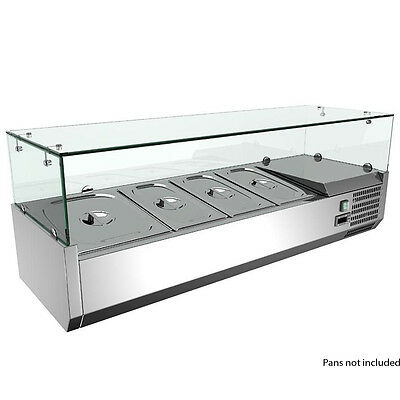 Omcan 40535 Refrigerated Topping Rail with 4 Pan Capacity