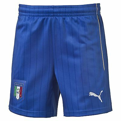 Puma Mens Italy Football Team Away Shorts Bottoms Pants 2015/16 Blue