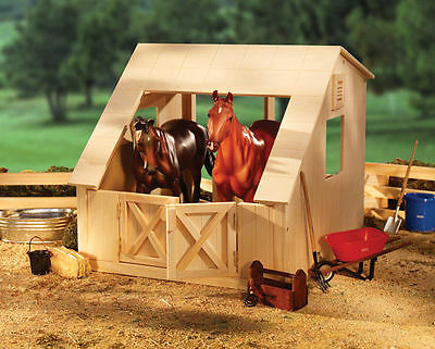 Breyer Two Stall Wood Stable / Barn Set - Traditional or Classics Model - #9641