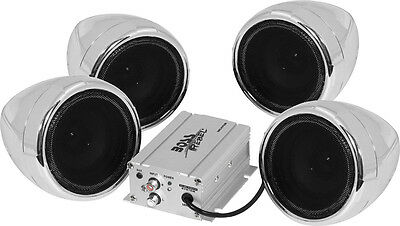 Boss Audio Systems Weatherproof All Terrain Bluetooth Stereo w/ 1000W Amp Chrome