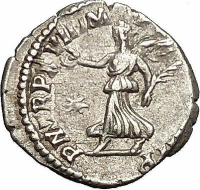 Commodus son of Marcus Aurelius Silver Ancient  Roman Coin Victory Cult  i52927