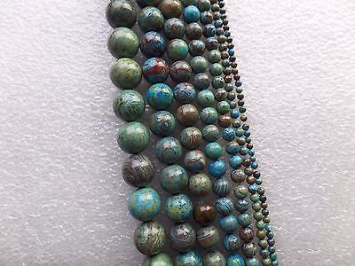 Blue Crazy Lace Agate Round Ball Loose bead 15.5inch 3/4/6/8/10/12/14mm ZD014