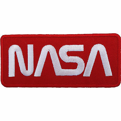 NASA Patch Embroidered Iron Sew On Astronaut Spaceman Fancy Dress Costume Badge