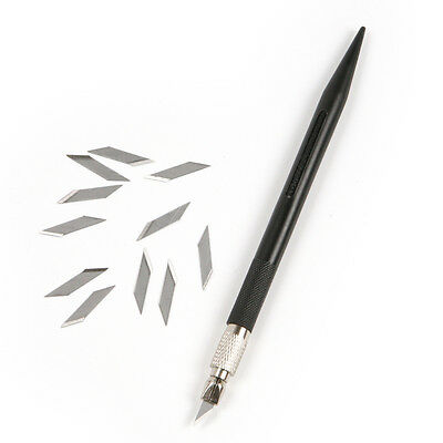 DIY Leather Carving Pen Knife Craft Wood Paper Cutting Tool + 12Pcs SK5 Blades