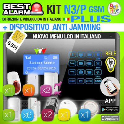 Antifurto Kit N3P Plus Allarme Touch Casa Combinatore Gsm Wireless - Antijamming