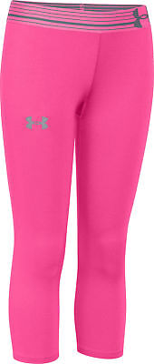Under Armour HeatGear 3/4 Capri Junior Running Tights - Pink
