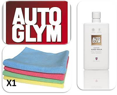 Autoglym Leather Car Valeting Leather Care Balm 500ml Seat Protectant & 1 Cloth