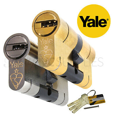 YALE Superior Euro Cylinder Lock Anti Snap / Bump High Security uPVC Door Barrel