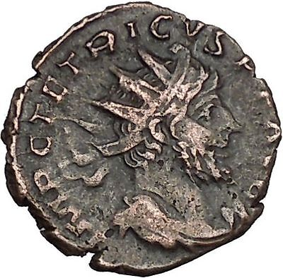 Tetricus I Gallic Roman 271AD Rare Ancient Roman Coin Virtus Courage Cult i53031