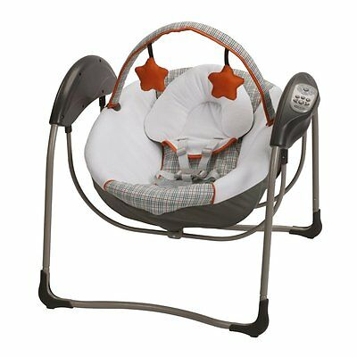 Graco Glider Petite LX Baby/Infant Swing with Mobile Toys – Milton | 1893414