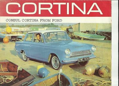 Ford Consul Cortina Sales Brochure July 1963 For The 1964 Model Year