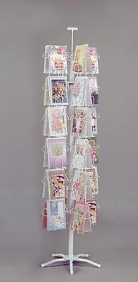 "For Sale 48 Pocket 6"" x 9"" Greeting Card Product Spinner Display Rack (White)"