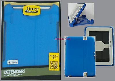 "OtterBox Defender Case for Amazon Kindle Fire HD 7"" 1st Gen. Sky Blue  77-30469"