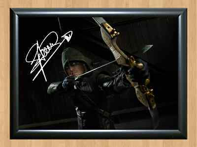 Stephen Amell Arrow When Calls the Heart Signed Autographed A4 Print Photo dvd