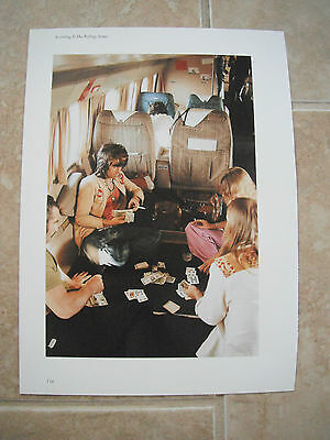 Rolling Stones Vtg Keith Richards Color Candid Coffee Table Book Photo