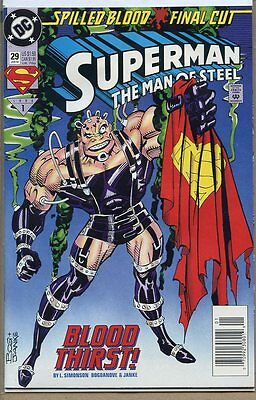 Superman the Man of Steel 1991 series # 29 very good comic book