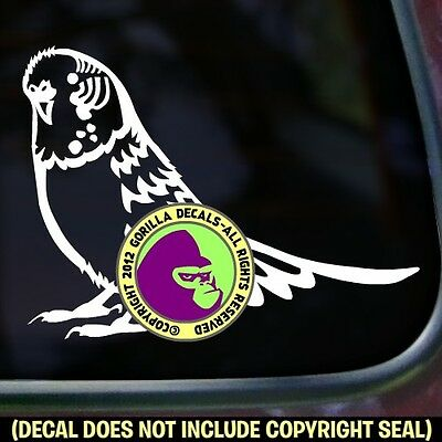 Budgie Parakeet Vinyl Decal Sticker Bird Crazy Love Pet Car Window Bumper Sign
