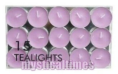 New * Lilac * 15 Tea Light  Tealight Candles From Village Candle