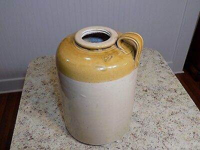 HTF Large Antique / Vintage POSSIL POTTERY Glasgow Scottish Stoneware Jug Flagon