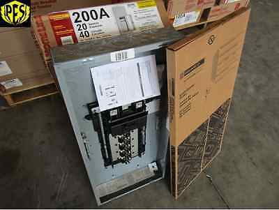 New Square D Hom2040M200Tc 20/40 Circuit 200 Amp Mb Panel Loadcenter W/cover