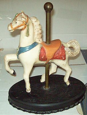Vintage Composition Carousel Horse Figure Oval Base Late 20th Century Appraised