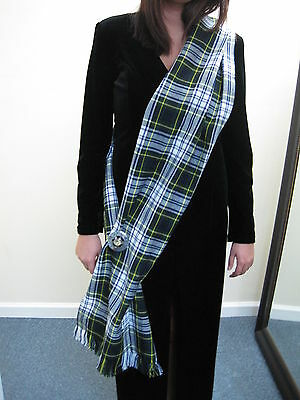 "Ladies OR Mens Gordon Dress Tartan Sash 90"" X 11"""