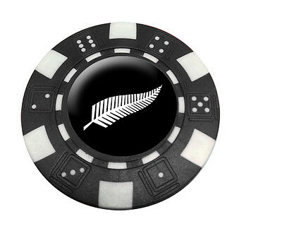 New Zealand Póker Chip Golf Ball Marker