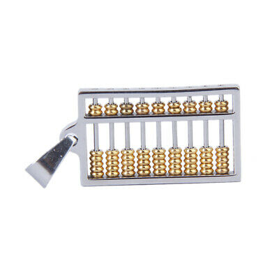 Unisex Stainless Steel silver gold Abacus Charm Pendant for Necklace Chain DIY