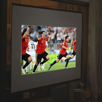 """100"""" inch Foldable Projector Screen Home Projection Cinema 16:9 Fabric Theater"""