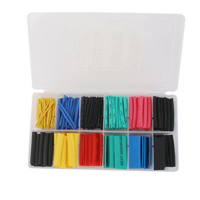 280PCS Heat Shrinkable Tubing Tube Kit Wire Electrical Cable Sleeving Wrap
