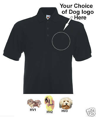 Poloshirt embroidered Havanese Dog personalised birthdy
