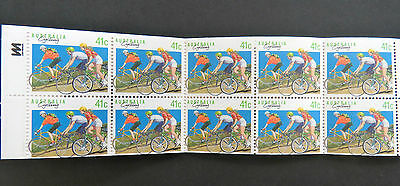 Australian Stamps: 1989 Sport, Series 1 Booklet - Cycling