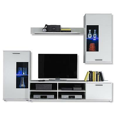 moderne wohnwand mit tv m bel eur 190 00 picclick de. Black Bedroom Furniture Sets. Home Design Ideas