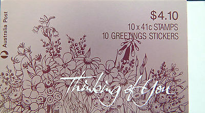 Australian Stamps: 1990 Thinking of You Booklet - Flower Bouquet