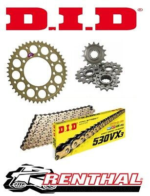 Renthal / DID Chain & Sprocket Kit to fit Suzuki GSXR 1000 K1-K6 2001-2006