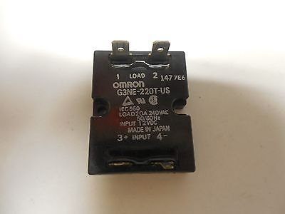 OMRON SOLID STATE RELAY G3NE-220T-US 20A A AMP 240Vac 12Vdc G3NE220TUS