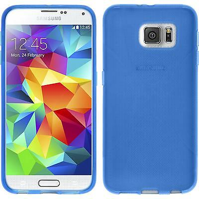 Silicone Case for Samsung Galaxy S6 X-Style blue + protective foils