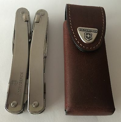 Victorinox Swiss Army Knife, Swisstool Spirit X, With Leather Pouch 53814, NIB