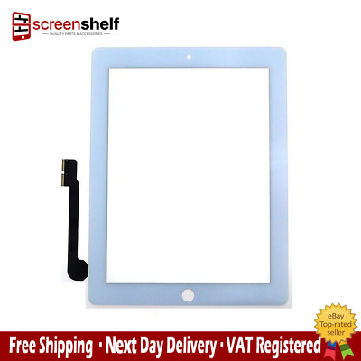 Replacement Digitizer for iPad 3 White with home button and adhesive