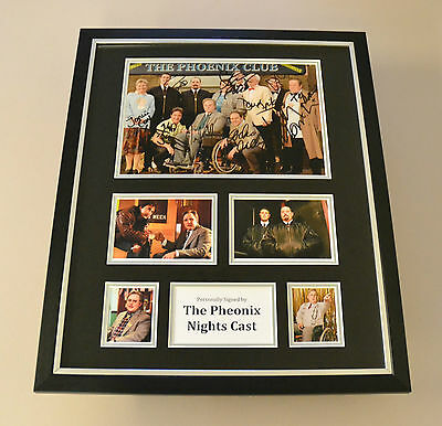Phoenix Nights Full Cast Signed Photo Large Framed Autograph Display Peter Kay