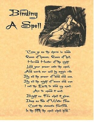 BOOK OF SHADOWS Spell Pages ** Binding a Spell ** Wicca Witchcraft BOS